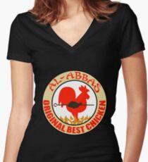 Al-Abbas: Original Best Chicken Fitted V-Neck T-Shirt