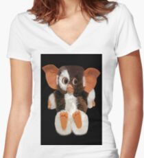 ❤ 。◕‿◕。CUTE GIZMO PICTURE/ CARD VERSION TWO SO CUTE AW❤ 。◕‿◕。 Women's Fitted V-Neck T-Shirt