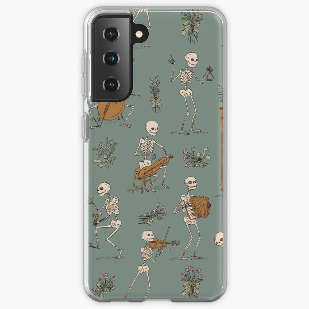 Skeleton orchestra Samsung Galaxy Phone Case