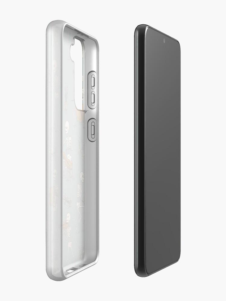 Alternate view of Skeleton orchestra Samsung Galaxy Phone Case