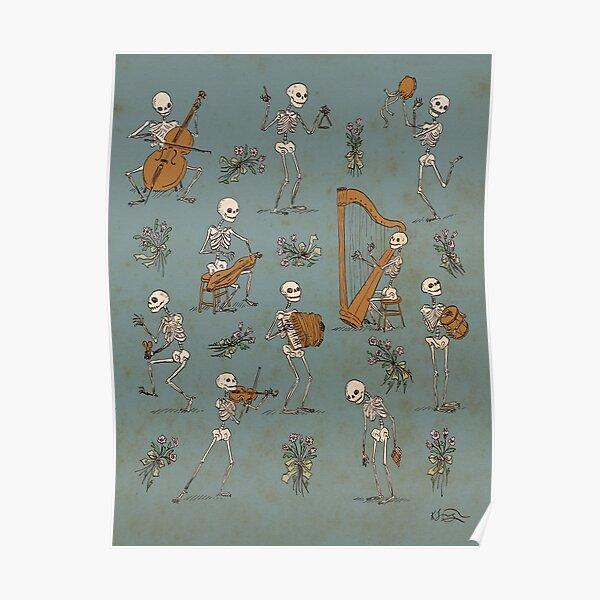Skeleton orchestra Poster