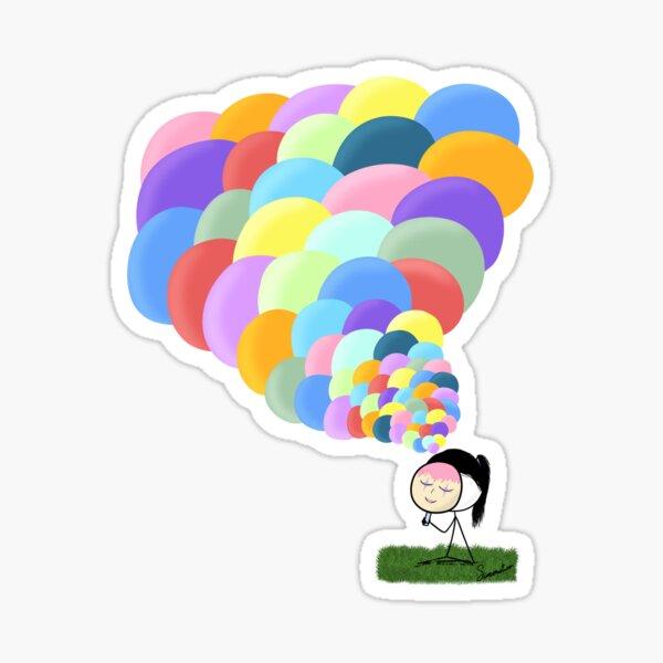 Pensamientos de colores Pegatina