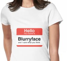 Hello My Name Is Blurryface Womens Fitted T-Shirt