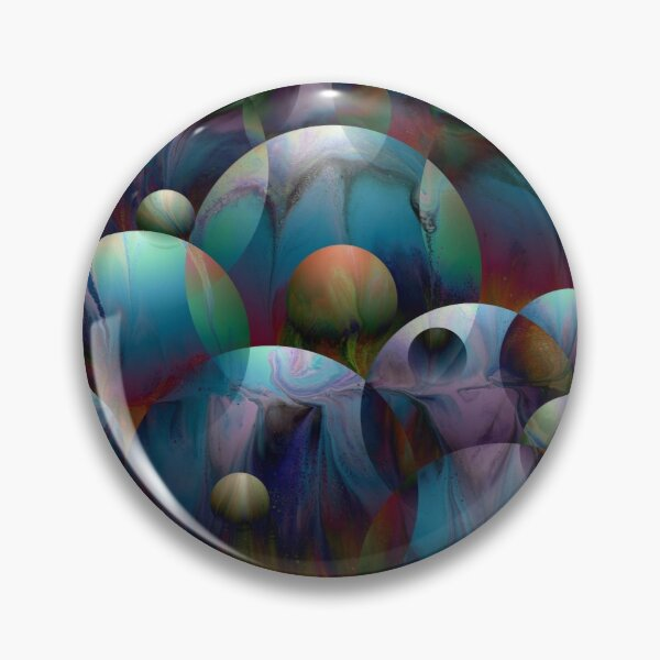 Orbs 2: round spheres abstract Pin
