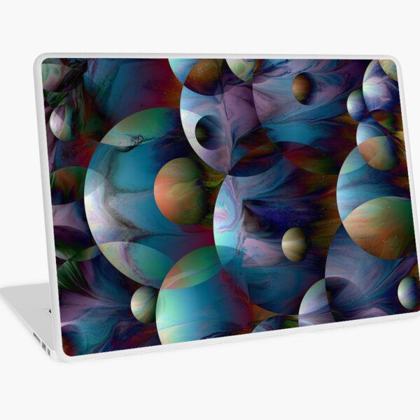 Orbs 2: round spheres abstract Laptop Skin