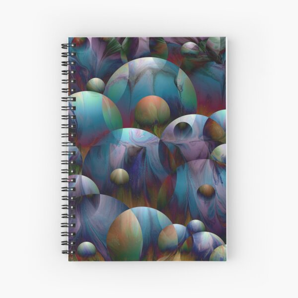 Orbs 2: round spheres abstract Spiral Notebook