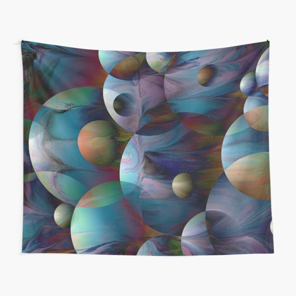 Orbs 2: round spheres abstract Tapestry