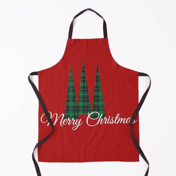 Classic Merry Christmas trees Apron