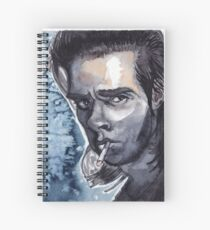 Nick Cave watercolor Spiral Notebook