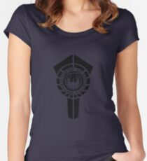 battlestar galactica logo - So Say We All Women's Fitted Scoop T-Shirt