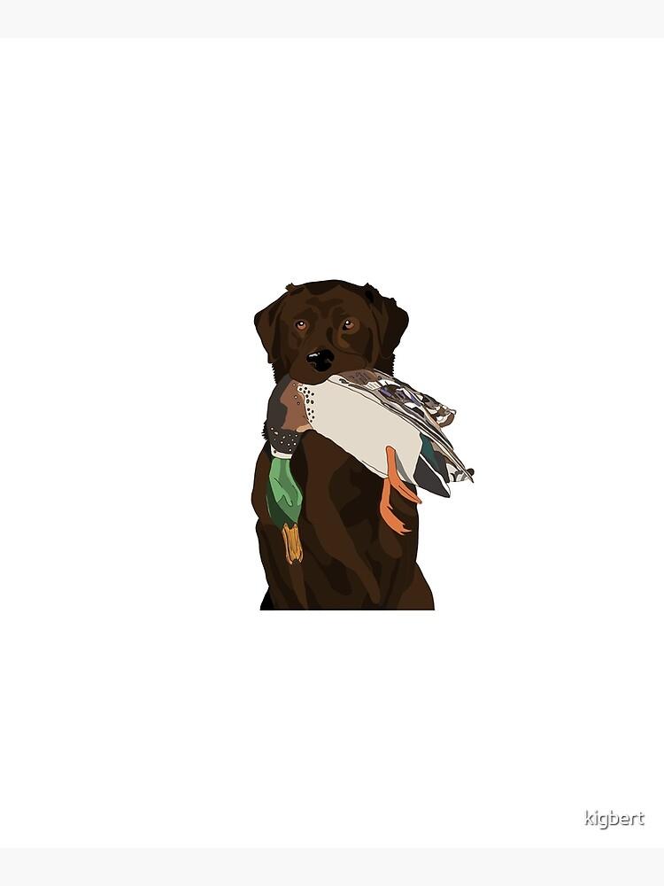 Chocolate Lab Bird Dog by kigbert