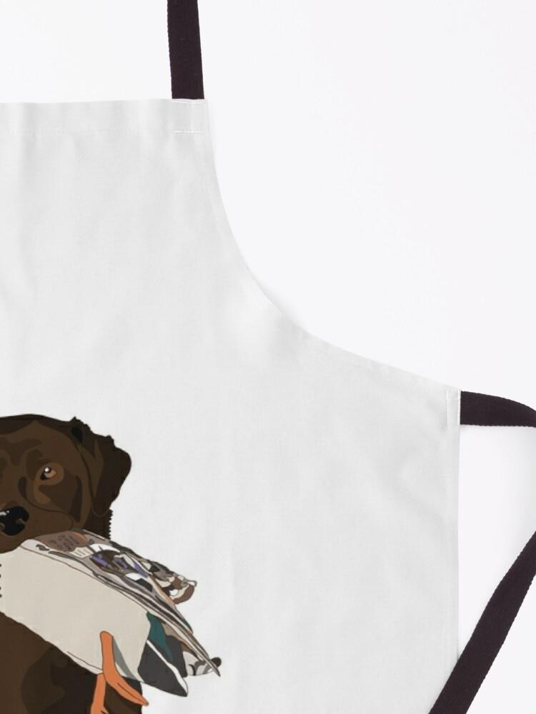 Alternate view of Chocolate Lab Bird Dog Apron