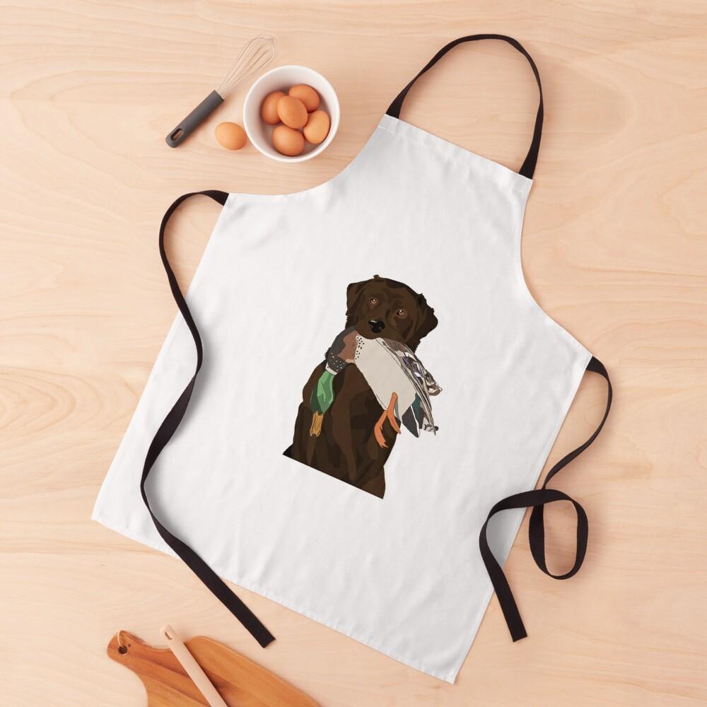 Chocolate Lab Bird Dog Apron