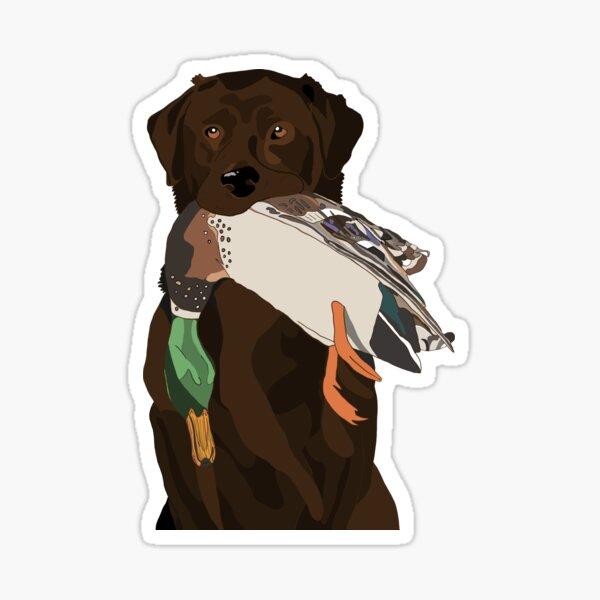 Chocolate Lab Bird Dog Sticker