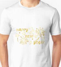 happy new year gold Unisex T-Shirt