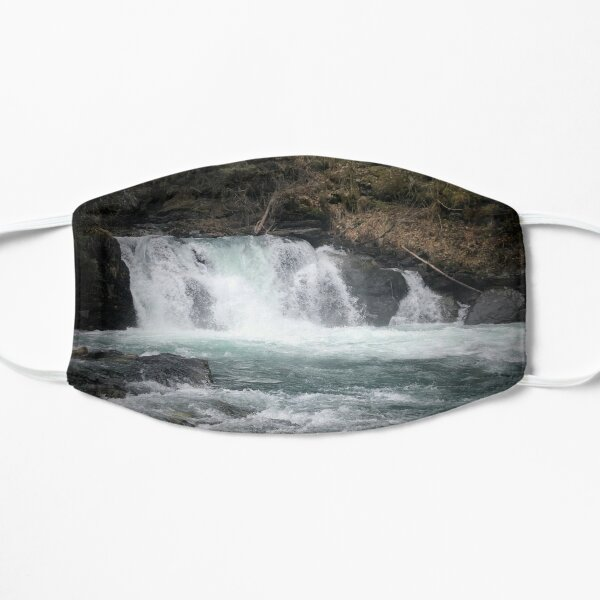 Soothing Alaskan Waterfall  Flat Mask