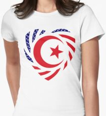 Muslim American Multinational Patriot Flag Series 2.0 Women's Fitted T-Shirt
