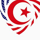 Muslim American Multinational Patriot Flag Series 2.0 by Carbon-Fibre Media