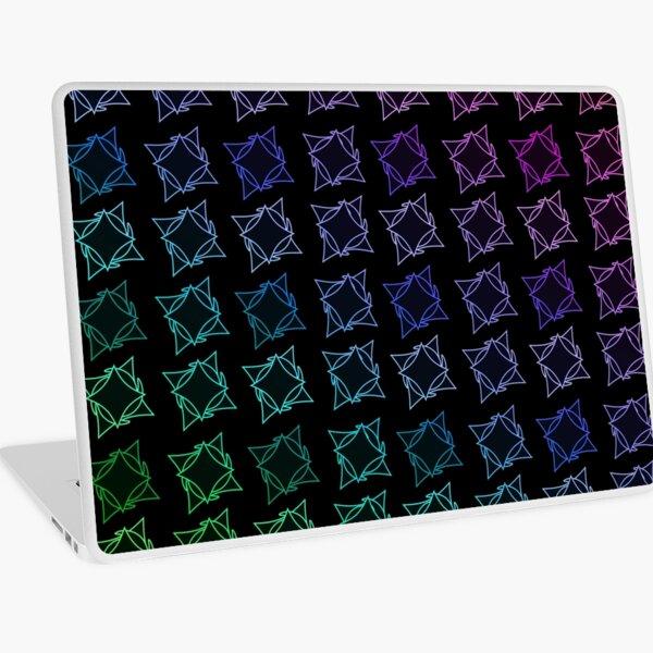 Motif étoiles filaire dégradé  multicolore sur fond noir  Skin adhésive d'ordinateur