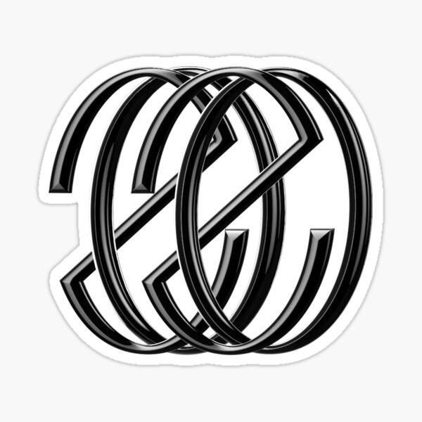 NCT 2020 Logo Negro Pegatina