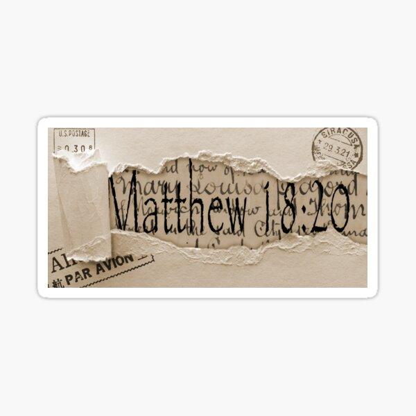 Matthew 18:20 Sticker