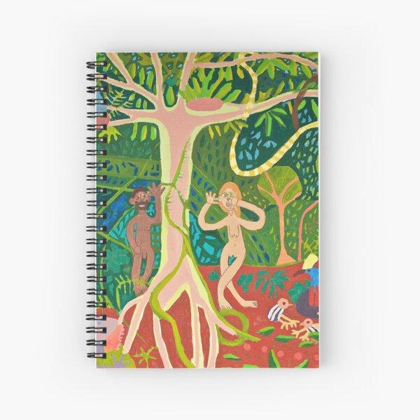 Adam and Eve in the Rainforest Zionart Zion Levy Stewart Spiral Notebook