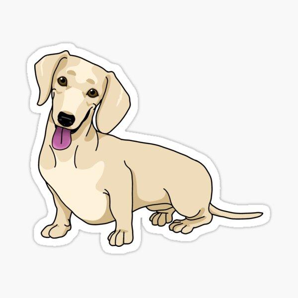 Dachshund, Short-Hair Cream Sticker