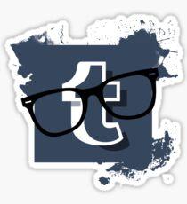 Hipster Tumblr Logo Sticker