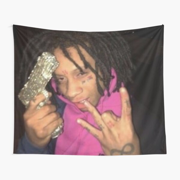 Trippie red aesthetic Tapestry