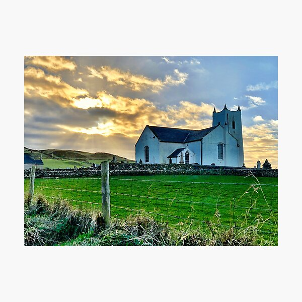 Ballycastle Northern Ireland Country Church Photographic Print