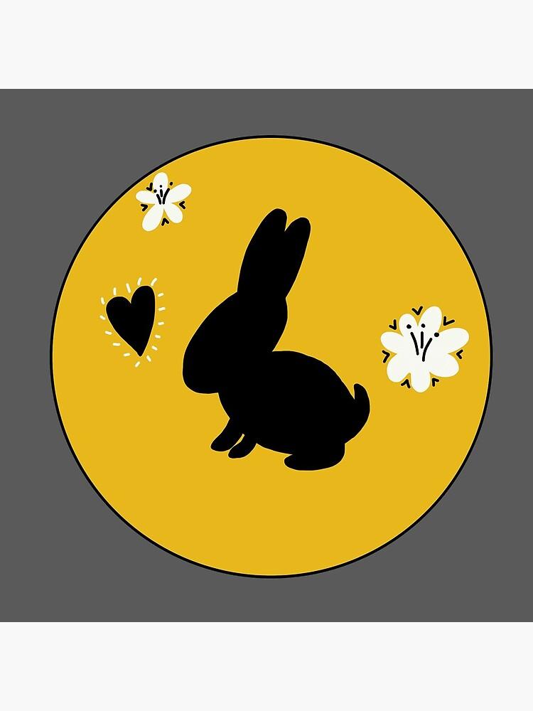 Bunny Rabbit Goldenrod Flower Circle by Zephyr-BunLove