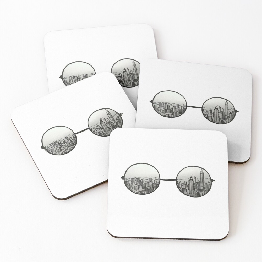 the view Coasters (Set of 4)