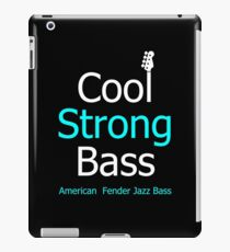 Cool strong bass iPad Case/Skin