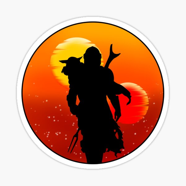 Sunset in Company Sticker