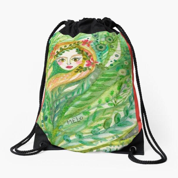 Hidden Mermaid Drawstring Bag