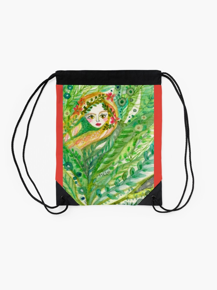 Alternate view of Hidden Mermaid Drawstring Bag