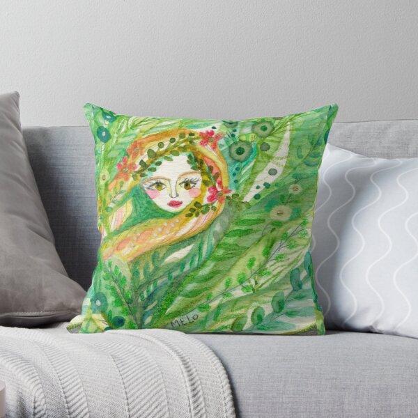Hidden Mermaid Throw Pillow