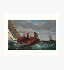 Breezing Up (A Fair Wind) by Winslow Homer (1873 - 1876) Art Print