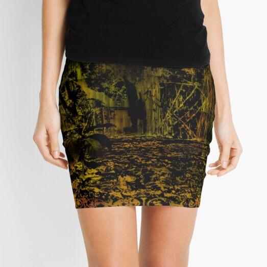 Forest garden Green Inversion 4 Mini Skirt