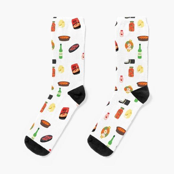 Korean food sticker sheet Socks