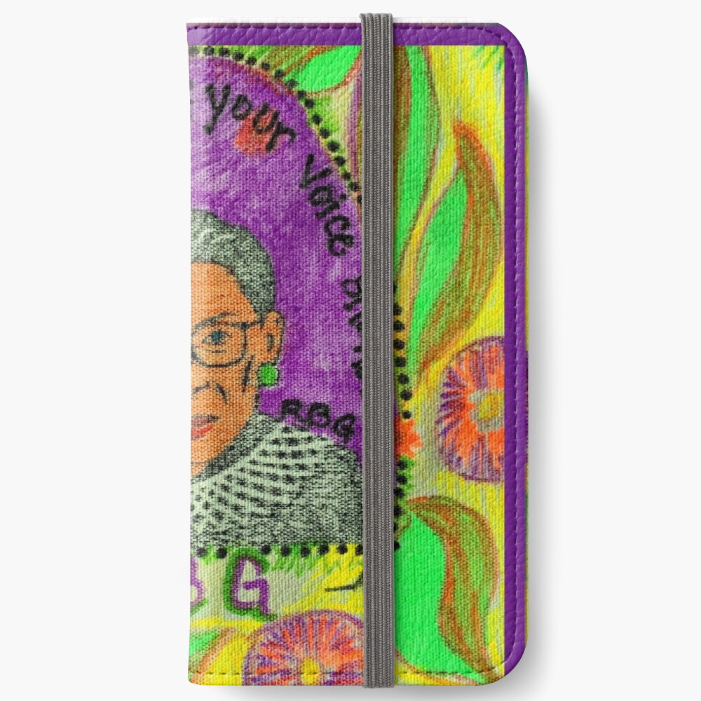 Ruth Bader Ginsburg with quote iPhone Wallet