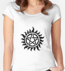 Supernatural Demon Possession Protection [BLACK] Women's Fitted Scoop T-Shirt