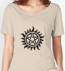 Supernatural Demon Possession Protection [BLACK] Women's Relaxed Fit T-Shirt