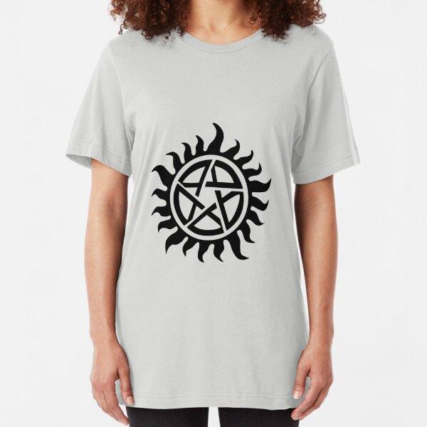 Supernatural Demon Possession Protection [BLACK] Slim Fit T-Shirt