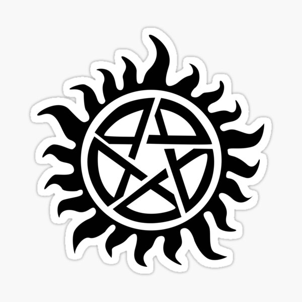 Supernatural Demon Possession Protection [BLACK] Sticker