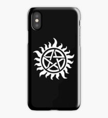 Supernatural Demon Possession Protection [WHITE] iPhone Case