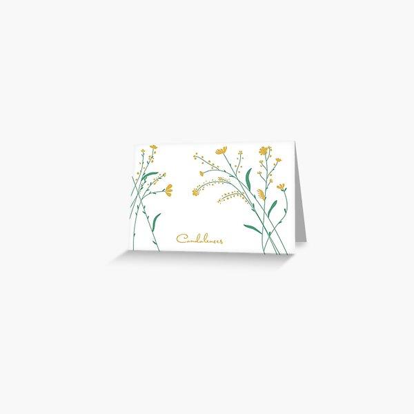 Condolences Wild Flowers Greeting Card