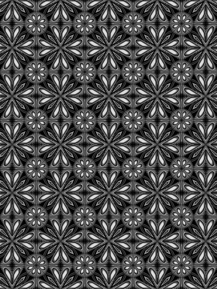Black Spring Floral 02 by Lafara