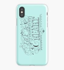 Hand Drawn Quote iPhone Case