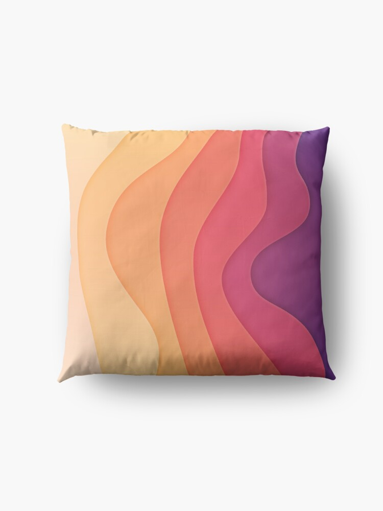 Alternate view of Summer waves Floor Pillow